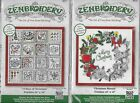 Lot of 2 DW  Zenbroidery Embroidery or Paint Kit 12 Days of Christmas Wreath