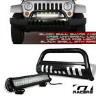 Black Bull Bar Grille Guard Frc+120W CREE LED Lights For 07 09 Jeep Wrangler Jk