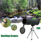 20x50 Zoom Portable Monocular Telescope with Tripod Stand Spotting Scope Outdoor