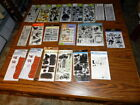 Huge Lot of 20 Packs Clear Stamps Cling Mix lot Fiskars Tim Holtz Inkadinkado