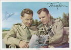 YURI GAGARIN AUTOGRAPHED SIGNED PHOTOGRAPH CO SIGNED BY GHERMAN TITOV