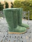 UGG GREEN TALL FLORA SPARKLY BOOTS WOMENS SIZE 9