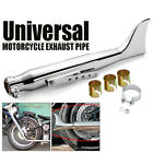 20 Shark Fin Universal Motorcycle Exhaust Tail Pipe Fishtail For Harley Chrome