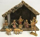 Vintage Christmas Nativity Set With 9 Characters  Manger Made In Italy 135x95