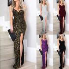 Women Sequin Weddig Cocktail Formal Prom Evening Party Long Maxi Dress Ball Gown