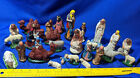 HUGE Antique VTG Italy Nativity Figures Bulk Lot Sets Scene Mini Xmas