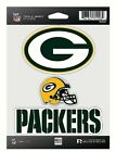 Green Bay Packers NFL Triple Spirit Stickers Decals 3 Pack Free Shipping