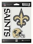 New Orleans Saints NFL Triple Spirit Stickers Decals 3 Pack Free Shipping