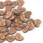 500PCS Natural Wood Love Hearts Wedding Table Scatter Decorations 6 Design