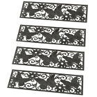 Collections Etc Butterfly Scroll Rubber Stair Treads Set of 4