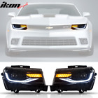 Fits 14 15 Chevy Camaro 6th Gen Style Projector Head Lamps Headlights