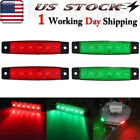 2X Oval Marine Boat Bow LED Navigation Lights Red Green Stern Starboard Light