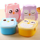 1PC Portable Kids Bento Box Cartoon Lunch Owl DS Case Storage Container Food Box