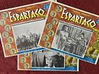 SPARTACUS Kirk Douglas Tony Curtis Stanley Kubrick 3 MEXICAN LOBBY CARDS 1960