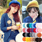 Women's Girl Wool Warm Winter Baggy Classic French Fluffy Beanie Beret Hat
