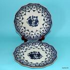 CHINESE EXPORT PORCELAIN 2 ANTIQUE 18THC BLUE WHITE PLATES NO RESERVE