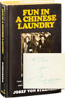 Josef von Sternberg FUN IN A CHINESE LAUNDRY Signed First Edition 1965 145550