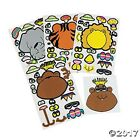 12 Make a Zoo Animal Face Sticker Sheets Birthday Party Favors