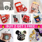 AirPods Cute 3D Cartoon Silicone Case Cover Skin Protective for Apple Airpod 1 2