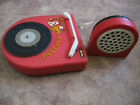 Vintage Soviet USSR Turntable Gramophone Record player Battery Toy