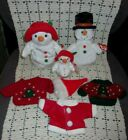 Lot Of 3 Ty Beanies Snowman Snowwoman & Jingle Chillin