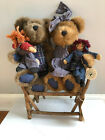 Boyds Bear Sally Quignappel and Annie, Simon Beanster and Andy Jointed + chair