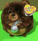 TY Beanie Ballz - MORSEL the Brown Bear w/ Hershey Kiss (5 inch)