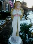 TPI Blow Mold Christmas Nativity Purple Sash Angel w Trumpet Horn 34