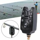 Electronic Fish Bite Sound Alarm Bell LED Light Fishing Rod Clip On Tackle Tools