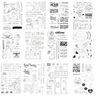 4X6 inch Silica Gel Clear Stamps DIY Scrapbooking Paper Card Crafts Embossing