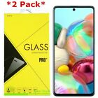 2 Pack Premium Tempered Glass Film Screen Protector for Samsung Galaxy A51 A71