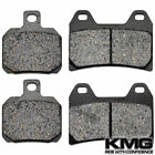 Front + Rear Organic NAO Brake Pads For 2003-2008 Moto Guzzi V 750 ie Breva