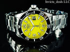 Tresod Mens Ocean Master AUTOMATIC Yellow Dial Sapphire Crystal 300M SS Watch