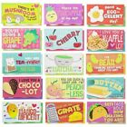 60 Pack Kids Motivational Lunch Box Note Cards Riddles Jokes Puns Puzzle Game