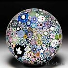 Damon MacNaught 2019 close packed millefiori and picture canes glass paperweight