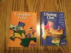 2 WEIGHT WATCHERS 2001 COMPLETE FOOD COMPANION and DINING OUT companion