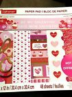 CRAFTSMART 12x12 Paper Pad  BE MY VALENTINE  Cardstock 48 sheets