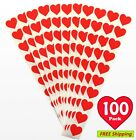 100 Pack 3 4 Red Heart Stickers Labels for Valentines Day MADE IN USA