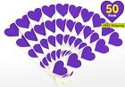 50 Pack15 Purple Heart Stickers Large Labels for Valentines DayMADE IN USA
