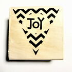 Joy Stamp New Wood Mounted Rubber Stamps