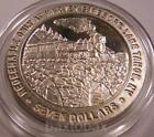 HARVEYS TAHOE  Solid .999 Silver OLD MINING TRAIN CROSSING STONE BRIDGE 1992