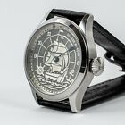ULYSSE NARDIN with Vintage Movement in new case Hand Engraved New Disign