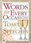 Words for All Occasions Toasts and Speeches by Hinkler Books
