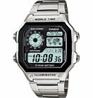 Casio AE1200WHD-1AV, Men's Chronograph Watch, 100 Meter WR, 5 Alarms, World Time