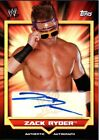 WWE Zack Ryder 2011 Topps Classic Authentic Autograph Card DWC