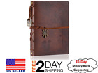Leather Scrapbook DIY Photo Memory Book Album 60 Pages Brown