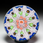 Strathearn patterned millefiori glass paperweight