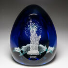 Caithness Glass 2000 Millennium Liberty engraved paperweight by Colin Terris