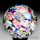 Antique Clichy end of day scrambled millefiori glass paperweight
