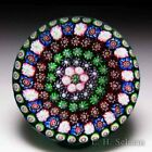 Rare antique Clichy concentric millefiori glass paperweight